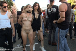 Blonde whore is led around a street fair - XXX Dessert - Picture 8