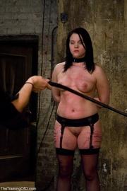 young woman black garter