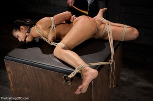 A ball gag and rope bondage bedevil a bo - XXX Dessert - Picture 9