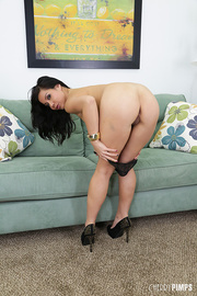 naughty raven haired beauty
