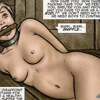 Blonde cutie with a big belly gets - BDSM Art Collection - Pic 1