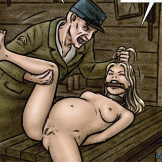 Blonde cutie with a big belly gets - BDSM Art Collection - Pic 3