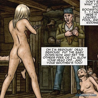 Blonde with a gun is ready to murder - BDSM Art Collection - Pic 3