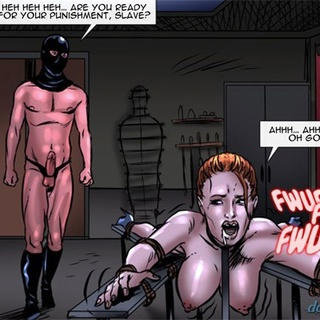 Tied up redhead slave gets humiliatied - BDSM Art Collection - Pic 3