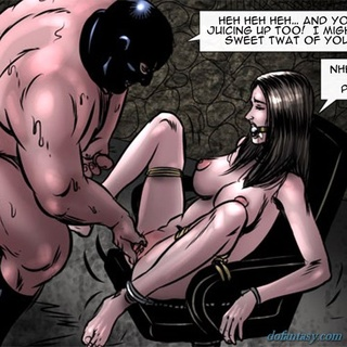 Tied up slave gets a huge cum load in - BDSM Art Collection - Pic 2