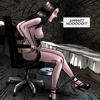 Tied up slave gets a huge cum load in - BDSM Art Collection - Pic 4
