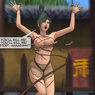 Hung green haired slut gets whipped so - BDSM Art Collection - Pic 2
