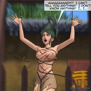 Hung green haired slut gets whipped so - BDSM Art Collection - Pic 3