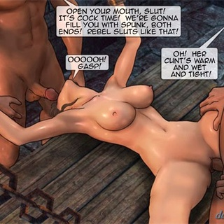 Cutie with big boobies gets in a nasty - BDSM Art Collection - Pic 3