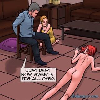 redhead slut gangbanged front