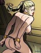 Long haired blonde slave gets covered in hot spunk. Harem Horror Hell