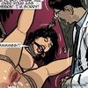 Tied up brunette gets another cumshot in her sweet snatch. Harem Horror