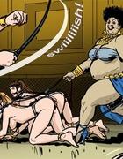 BBW mistress slut wants some hot fun with her sexy girls. Harem Horror