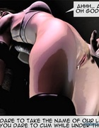 Tied up bitch gets her nipples stimulated by some perverse dudes. The