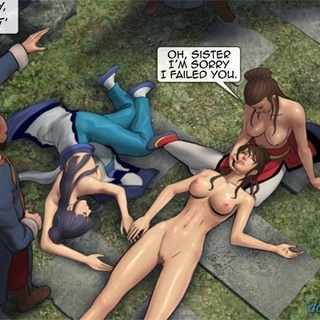 Blue haired bitch with perky tits is - BDSM Art Collection - Pic 1