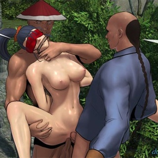 Double penetration for this slutty - BDSM Art Collection - Pic 1