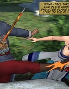 Blue haired lady with big tits gets into a bloody fight. Female General