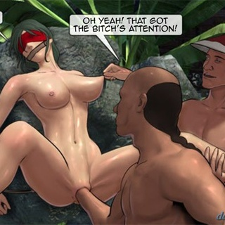 Blue haired bitch with perky tits is - BDSM Art Collection - Pic 4