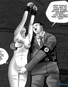 Horny Nazi slaps a blondie and sticks his dick up her throat. Agnes Beauvais