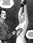 Blonde gal in bondage gets whipped by Adolf Hitler. Agnes Beauvais by