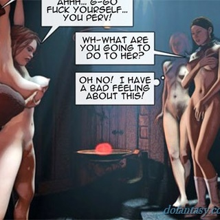 Three sluts in chains get pleased by a - BDSM Art Collection - Pic 3