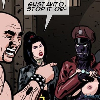 Horny prison guard gets disciplined by - BDSM Art Collection - Pic 1