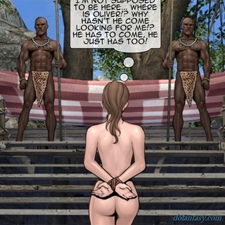 Busty white girl gets shared by a horny - BDSM Art Collection - Pic 2