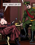 Horny colonel has a really close encounter with a nasty mistress. Prison