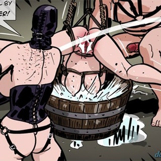 Brunette lady gets whipped and face - BDSM Art Collection - Pic 2