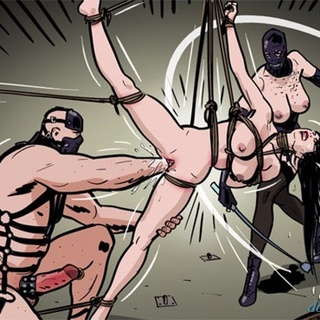 Brunette gal gets fisted and face - BDSM Art Collection - Pic 4