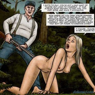 Long haired blonde chick gets a big gun - BDSM Art Collection - Pic 3