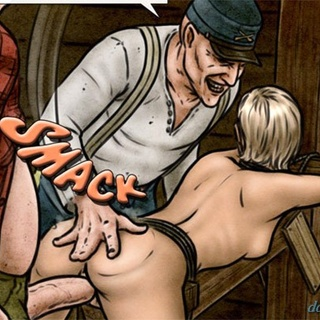 Tied up blonde slave gets rammed hard - BDSM Art Collection - Pic 2