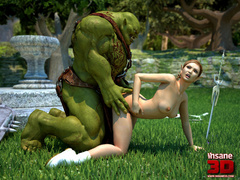 Monster with a big dick is ready to fuck a - Cartoon Sex - Picture 1