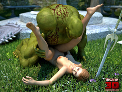 Monster with a big dick is ready to fuck a - Cartoon Sex - Picture 3