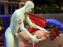 Tattooed bald man bangs a ginger gal in doggy - Cartoon Sex - Picture 2