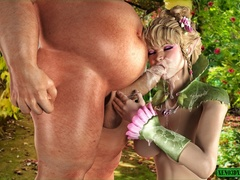 Muscled dude fucks a elf lady in a doggy - Cartoon Sex - Picture 2