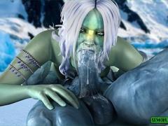 Iceman fucking his green bitch so damn hard - Cartoon Sex - Picture 2