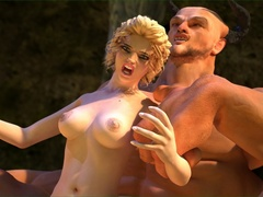 Big muscled dude fucks a sweet blonde lady - Cartoon Sex - Picture 3