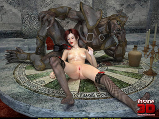 Ginger gal in black stockings fucked by a - Cartoon Sex - Picture 4