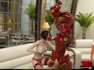 Red robot fucks a short haired bitch and she - Cartoon Sex - Picture 1