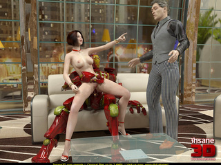 Red robot fucks a short haired bitch and she - Cartoon Sex - Picture 4
