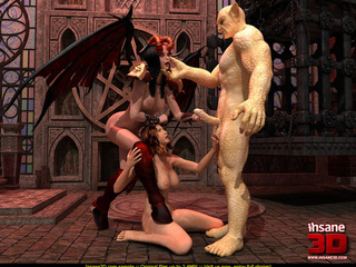 Horny creature fucks a female gargoyle and a - Cartoon Sex - Picture 3