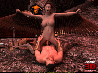 Brunette angel with big natural boobies - Cartoon Sex - Picture 4