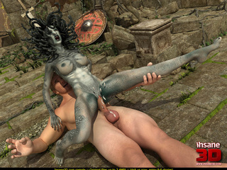 Slutty gorgon girl sucks a dick and takes a - Cartoon Sex - Picture 3