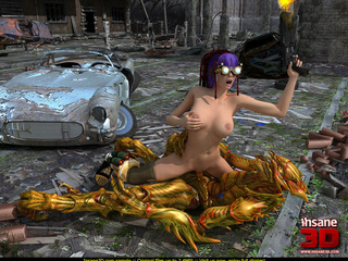 Busty cyber punk slut gets rammed by an alien - Cartoon Sex - Picture 4