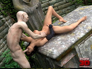Bald dude fucks a curvy short haired brunette - Cartoon Sex - Picture 1