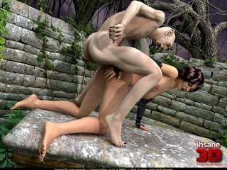 Bald dude fucks a curvy short haired brunette - Cartoon Sex - Picture 3