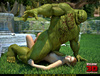 Muscled green troll fuck sa wonderful brunette gal outdoors