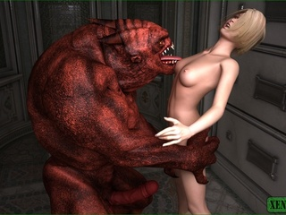 Red monster fucks a petite blonde darling so hard - Picture 2