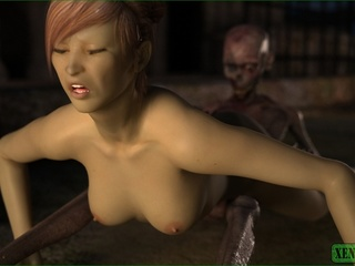 Skinny alien fucks a beautiful busty chick - Picture 3